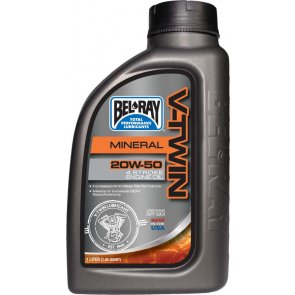 BEL-RAY V-TWIN MINERAL ENG OIL 20W-50 1L