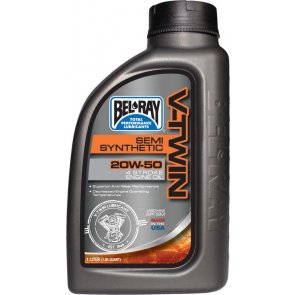BEL-RAY V-TWIN SEMI SYNTHETIC ENG OIL 20W-50 1L