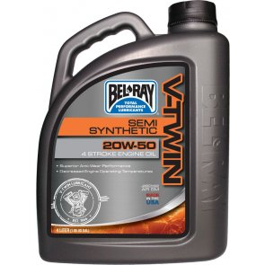 BEL-RAY V-TWIN SEMI SYNTHETIC ENG OIL 20W-50 4L