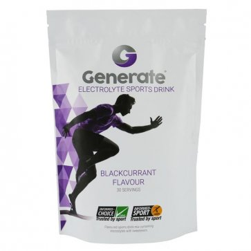 GENERATE ELECTROLYTE SPORTS DRINK 405g POUCH (BLACKCURRANT)