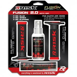 RISK RACING FUSION 2.0 MX GRIPS BLACK/RED