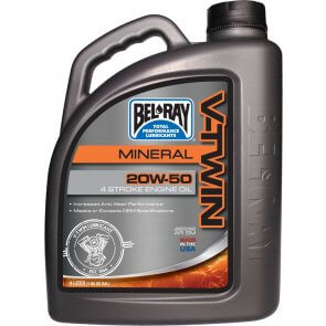 BEL-RAY V-TWIN MINERAL ENG OIL 20W-50 4L