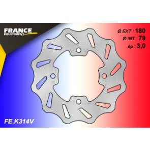 FRANCE EQUIPEMENT FRONT/REAR WAVE BRAKE DISC KAWASAKI KX 65 00-18