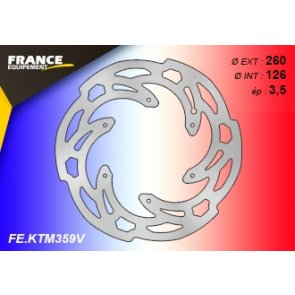 FRANCE EQUIPEMENT FRONT WAVE BRAKE DISC KTM 125+ 07-18 & HQV 125+ 14-18