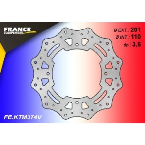 FRANCE EQUIPEMENT REAR WAVE BRAKE DISC KTM SX 85 SW & BW 07-10