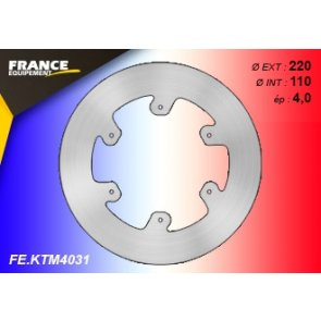 FRANCE EQUIPEMENT REAR SOLID BRAKE DISC KTM 125+ 07-18 & HQV 125+ 14-18