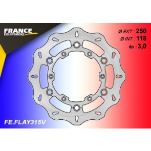 FRANCE EQUIPEMENT FRONT WAVE BRAKE DISC YAMAHA YZ 125/250 02-18 & YZF 250/450 07-15