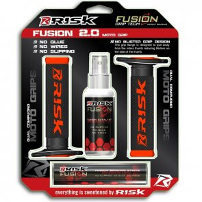 RISK RACING FUSION 2.0 MX GRIPS BLACK/ORANGE