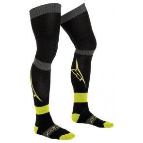 AXO PIPPI LONG SOCKS BLACK/YELLOW (PAIR)