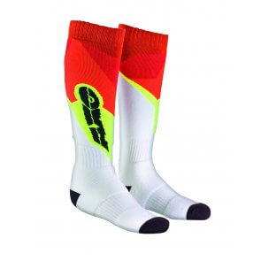 AXO OFF ROAD SOCKS WHITE/RED/YELLOW (PAIR)