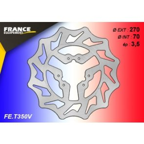 FRANCE EQUIPEMENT FRONT WAVE BRAKE DISC TM MX/EN 125/250 10-18