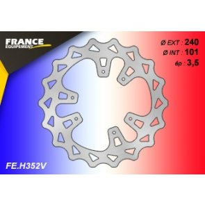 FRANCE EQUIPEMENT FRONT WAVE BRAKE DISC HONDA CR/CRF 07-15 & CRF-X 07-17