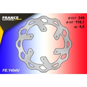 FRANCE EQUIPEMENT REAR WAVE BRAKE DISC YAMAHA YZ 125/250 & YZF/WRF 250/450 07-18