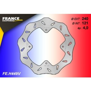 FRANCE EQUIPEMENT REAR WAVE BRAKE DISC HONDA CR/CRF/CRF-X 07-17
