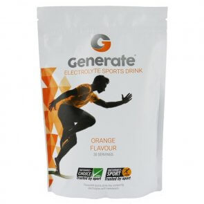 GENERATE ELECTROLYTE SPORTS DRINK 405g POUCH (ORANGE)