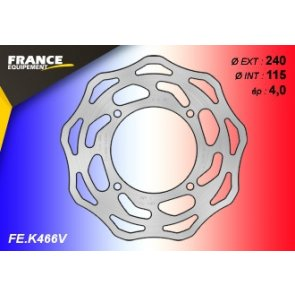 FRANCE EQUIPEMENT REAR WAVE BRAKE DISC KAWASAKI KX/KXF 125/250 07-18